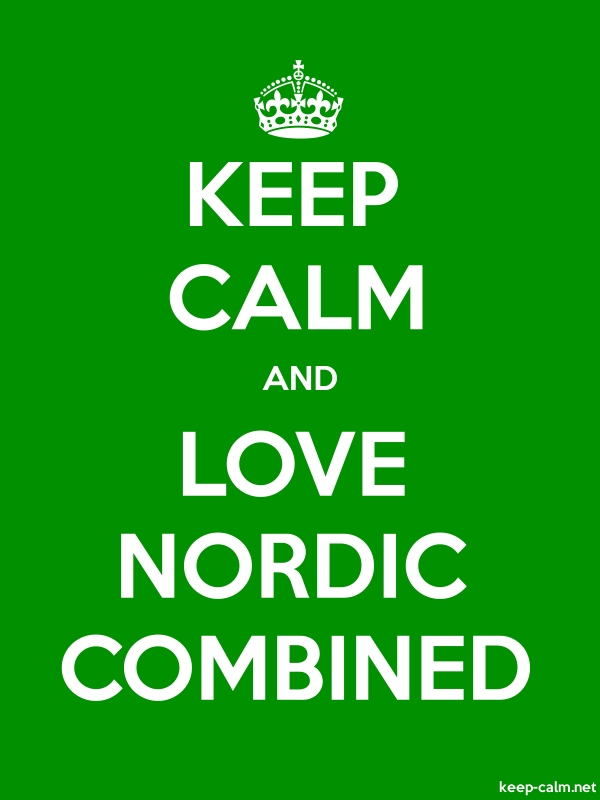 KEEP CALM AND LOVE NORDIC COMBINED - white/green - Default (600x800)