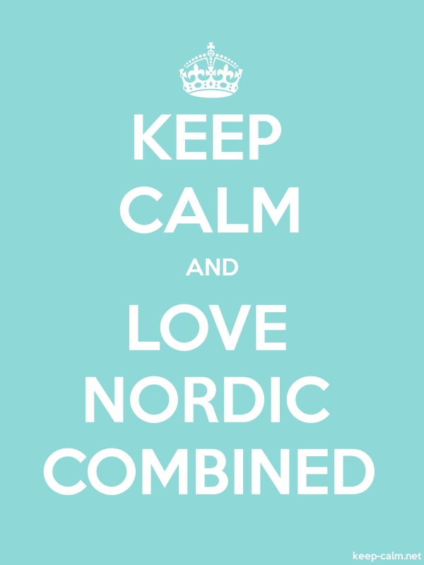 KEEP CALM AND LOVE NORDIC COMBINED - white/lightblue - Default (600x800)