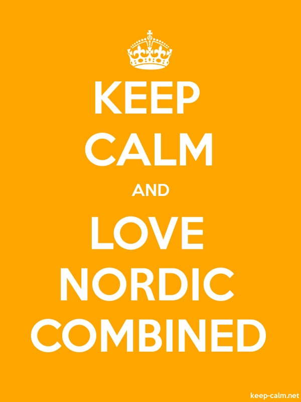 KEEP CALM AND LOVE NORDIC COMBINED - white/orange - Default (600x800)