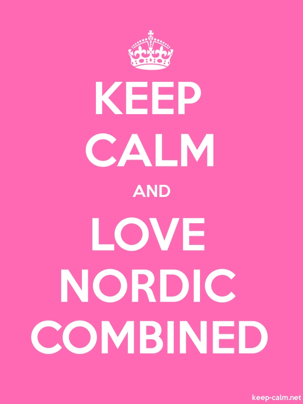 KEEP CALM AND LOVE NORDIC COMBINED - white/pink - Default (600x800)