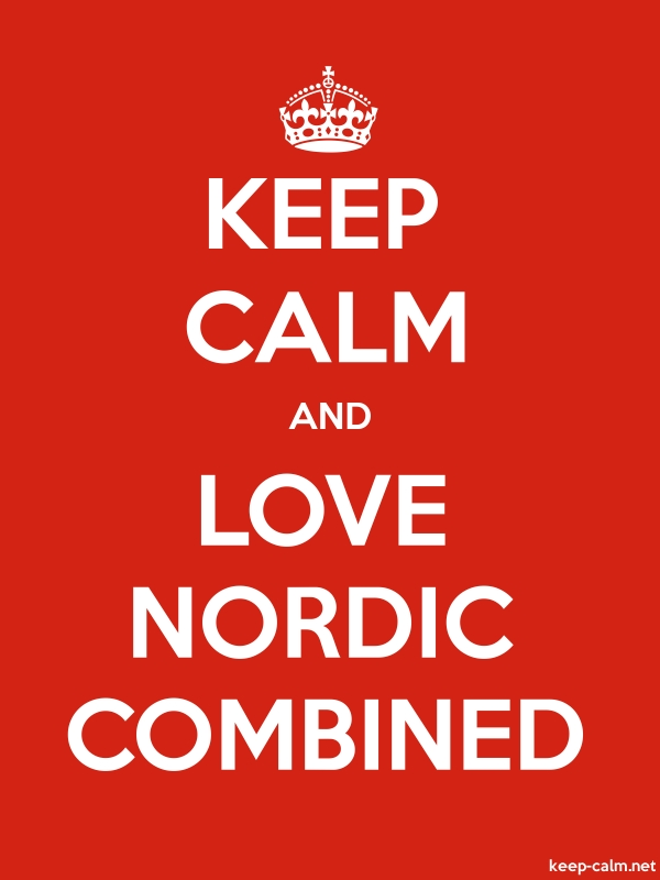 KEEP CALM AND LOVE NORDIC COMBINED - white/red - Default (600x800)