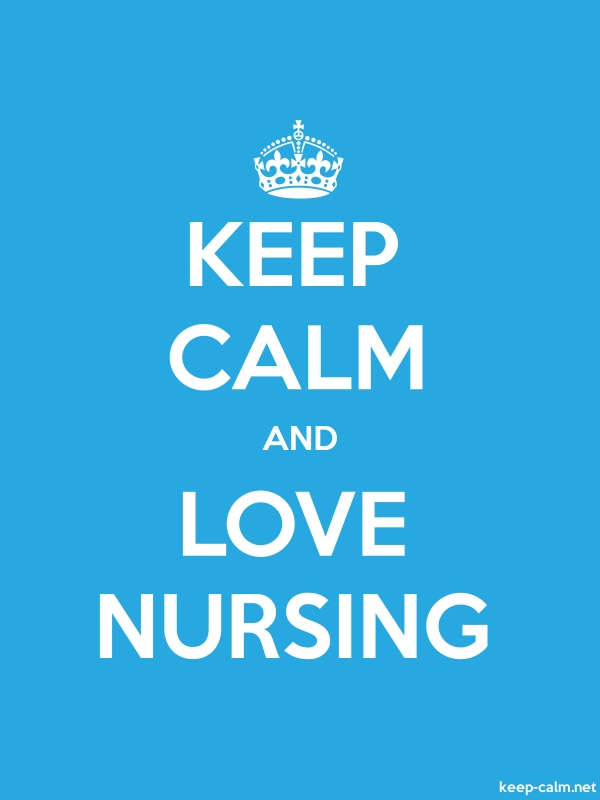 KEEP CALM AND LOVE NURSING - white/blue - Default (600x800)