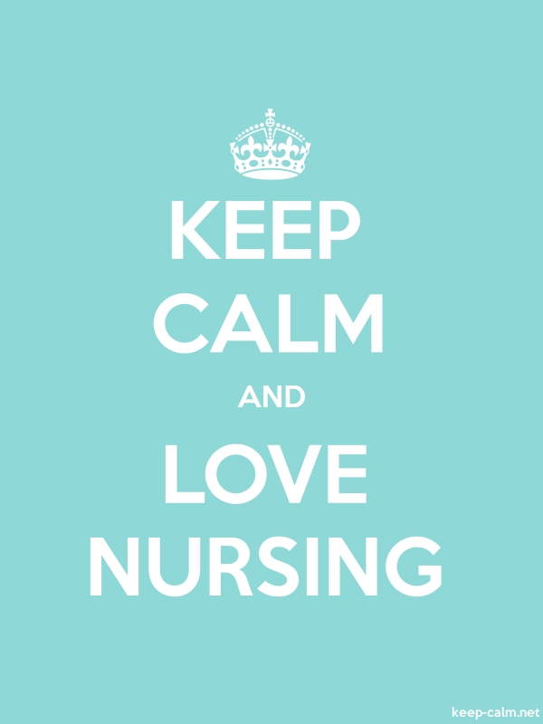 KEEP CALM AND LOVE NURSING - white/lightblue - Default (600x800)