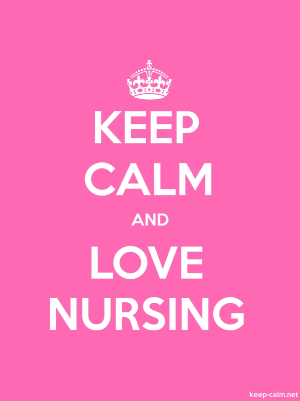 KEEP CALM AND LOVE NURSING - white/pink - Default (600x800)