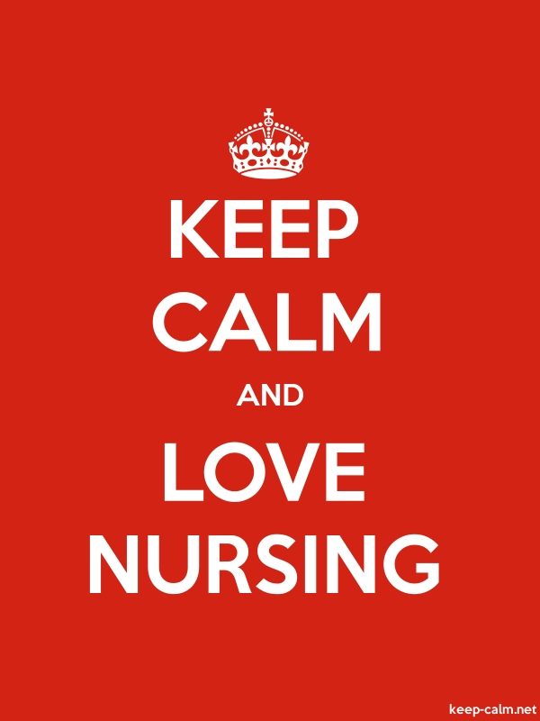 KEEP CALM AND LOVE NURSING - white/red - Default (600x800)