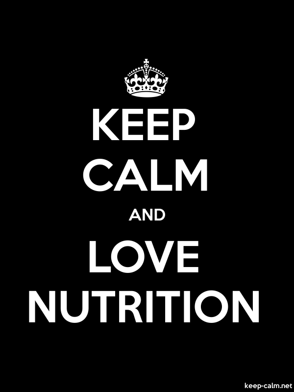 KEEP CALM AND LOVE NUTRITION - white/black - Default (600x800)