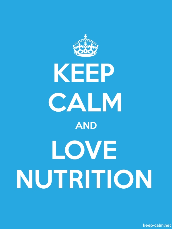 KEEP CALM AND LOVE NUTRITION - white/blue - Default (600x800)