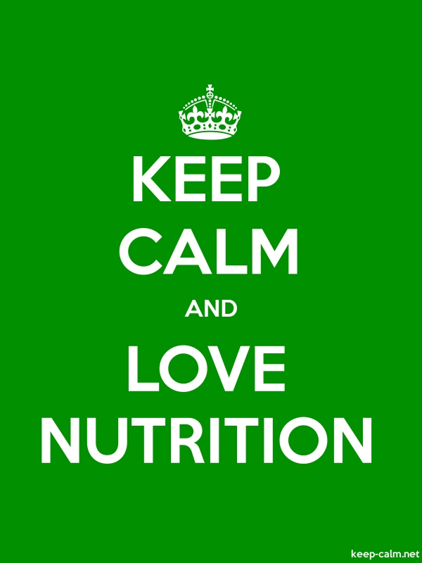 KEEP CALM AND LOVE NUTRITION - white/green - Default (600x800)