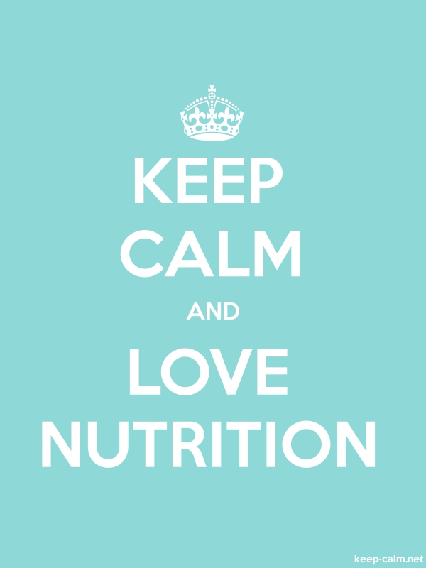 KEEP CALM AND LOVE NUTRITION - white/lightblue - Default (600x800)