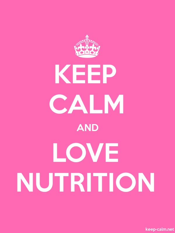 KEEP CALM AND LOVE NUTRITION - white/pink - Default (600x800)