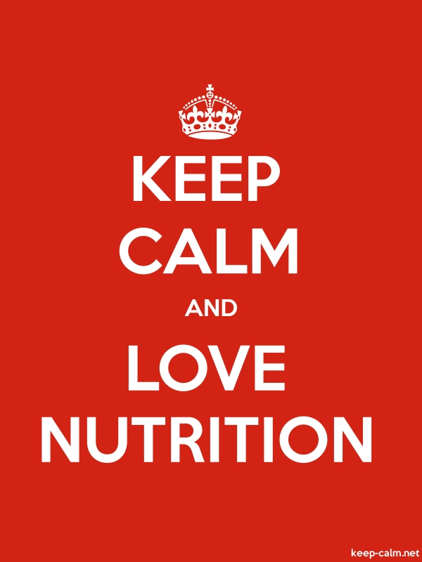 KEEP CALM AND LOVE NUTRITION - white/red - Default (600x800)