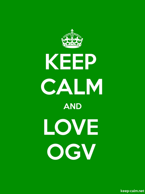 KEEP CALM AND LOVE OGV - white/green - Default (600x800)