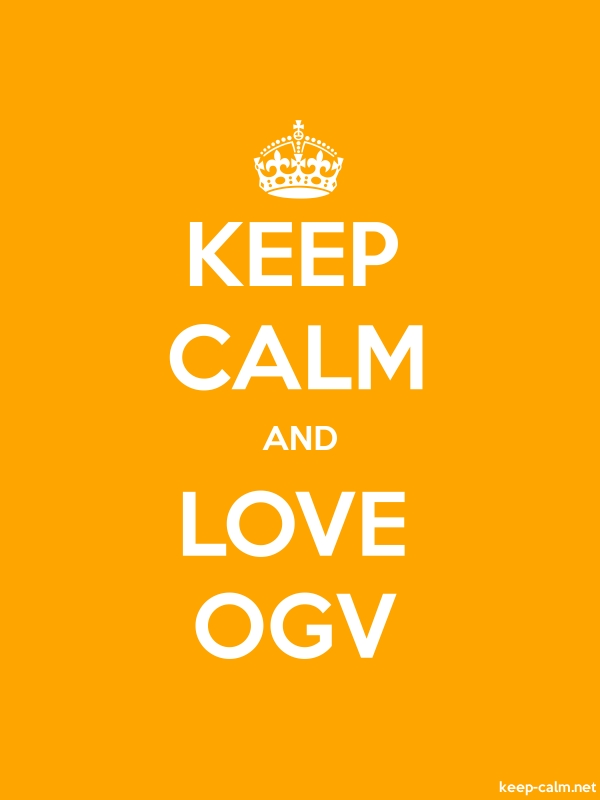 KEEP CALM AND LOVE OGV - white/orange - Default (600x800)