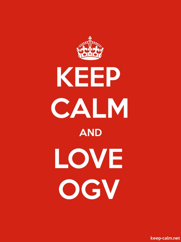 KEEP CALM AND LOVE OGV - white/red - Default (600x800)