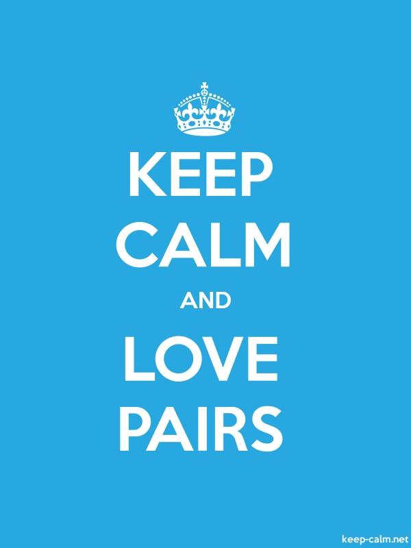 KEEP CALM AND LOVE PAIRS - white/blue - Default (600x800)