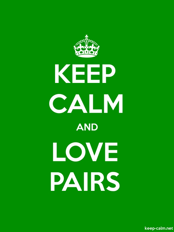 KEEP CALM AND LOVE PAIRS - white/green - Default (600x800)