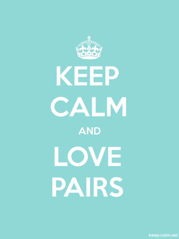 KEEP CALM AND LOVE PAIRS - white/lightblue - Default (600x800)