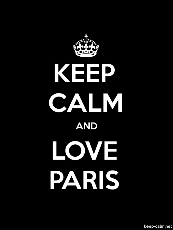 KEEP CALM AND LOVE PARIS - white/black - Default (600x800)