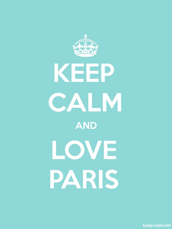KEEP CALM AND LOVE PARIS - white/lightblue - Default (600x800)