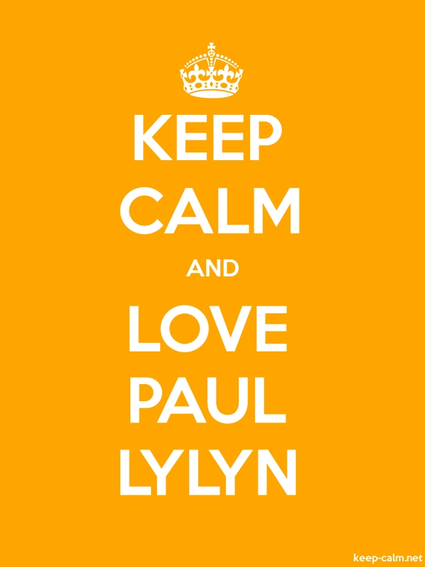 KEEP CALM AND LOVE PAUL LYLYN - white/orange - Default (600x800)