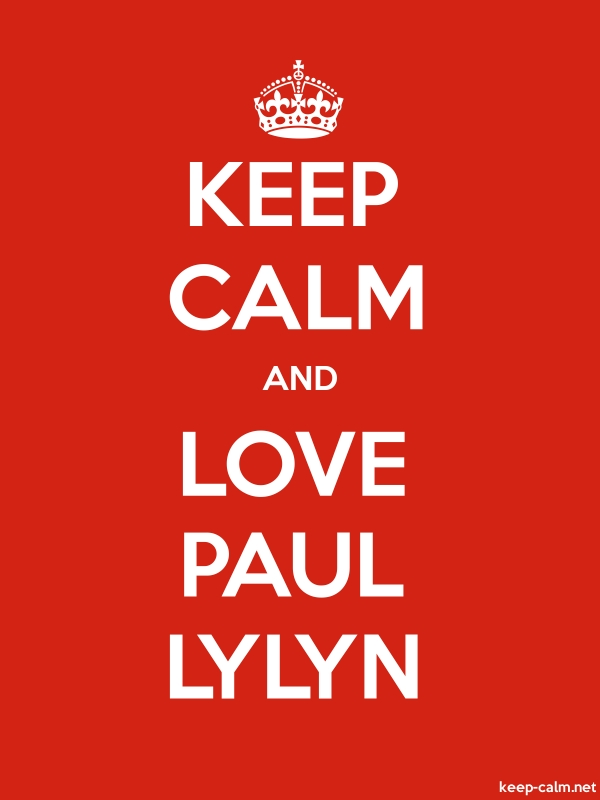 KEEP CALM AND LOVE PAUL LYLYN - white/red - Default (600x800)