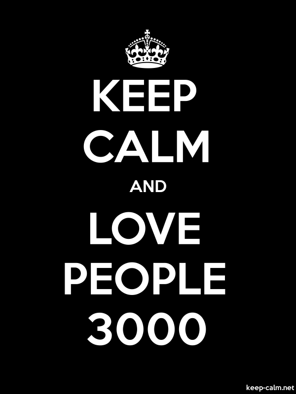 KEEP CALM AND LOVE PEOPLE 3000 - white/black - Default (600x800)