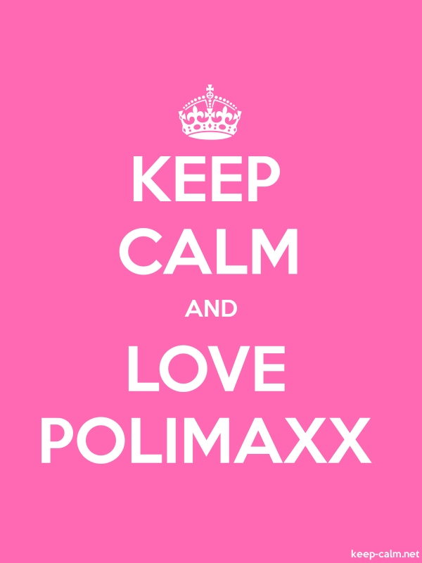 KEEP CALM AND LOVE POLIMAXX - white/pink - Default (600x800)