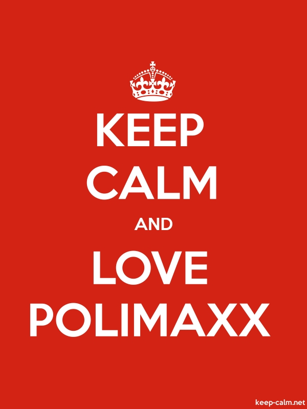 KEEP CALM AND LOVE POLIMAXX - white/red - Default (600x800)
