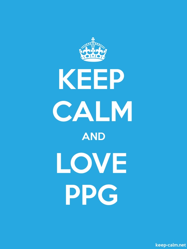 KEEP CALM AND LOVE PPG - white/blue - Default (600x800)