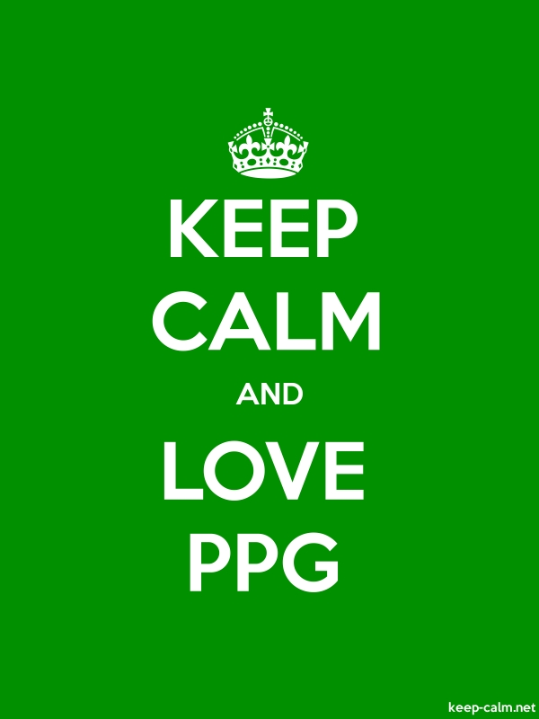 KEEP CALM AND LOVE PPG - white/green - Default (600x800)
