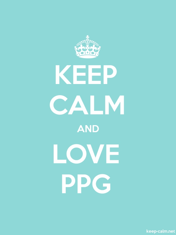 KEEP CALM AND LOVE PPG - white/lightblue - Default (600x800)