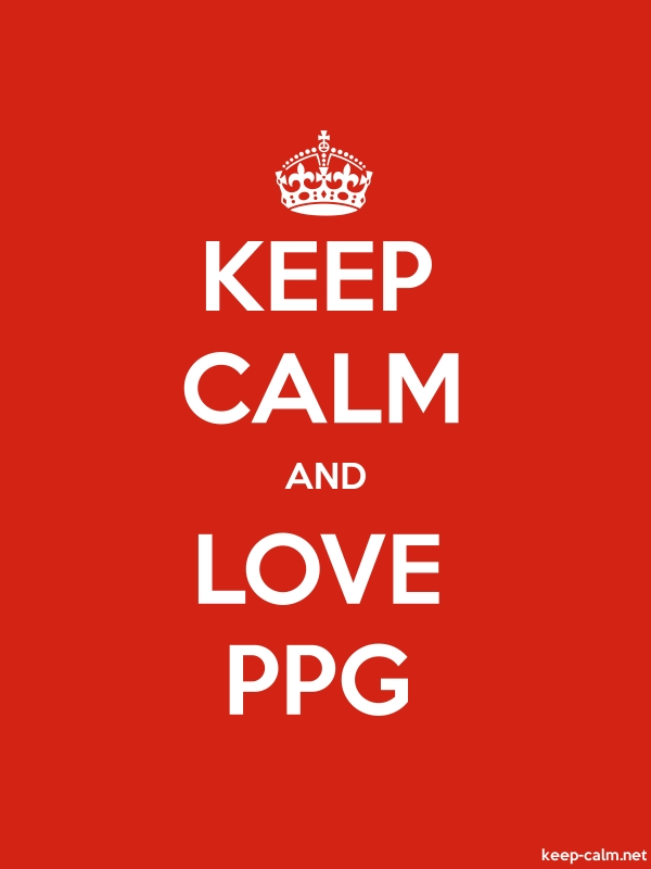 KEEP CALM AND LOVE PPG - white/red - Default (600x800)
