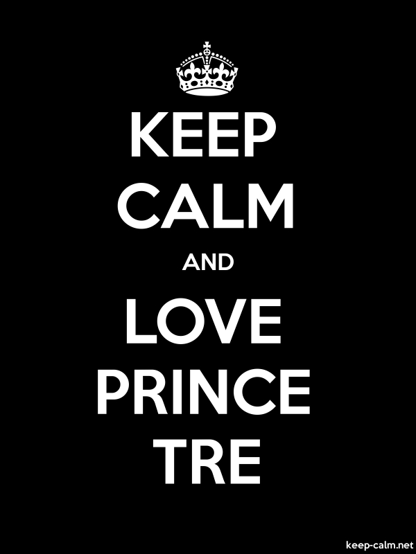 KEEP CALM AND LOVE PRINCE TRE - white/black - Default (600x800)
