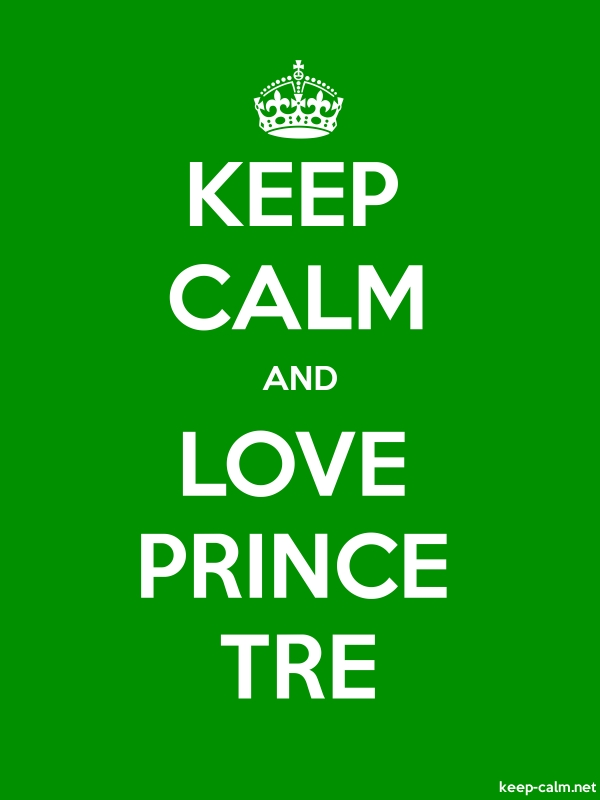 KEEP CALM AND LOVE PRINCE TRE - white/green - Default (600x800)