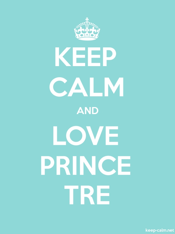 KEEP CALM AND LOVE PRINCE TRE - white/lightblue - Default (600x800)