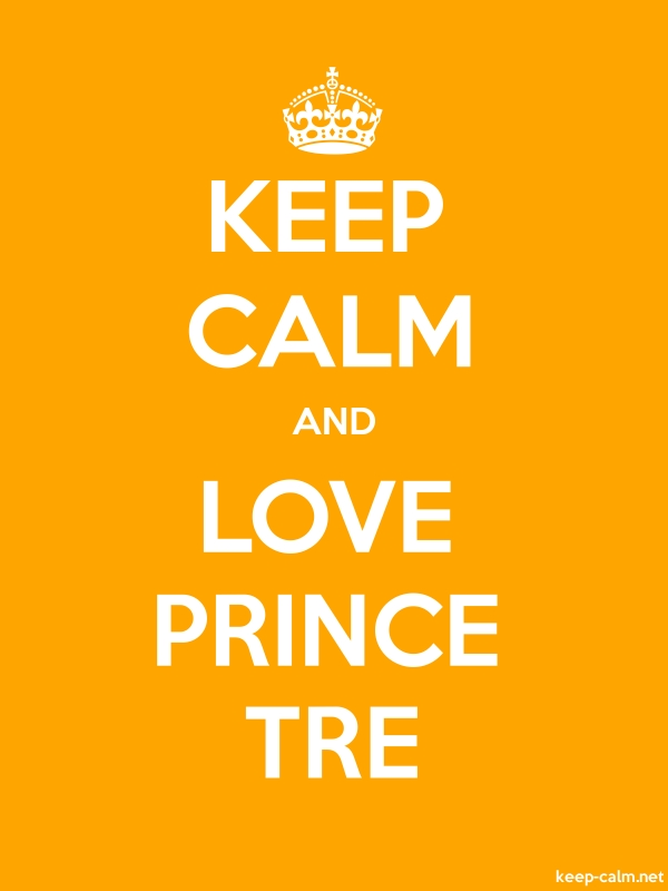 KEEP CALM AND LOVE PRINCE TRE - white/orange - Default (600x800)
