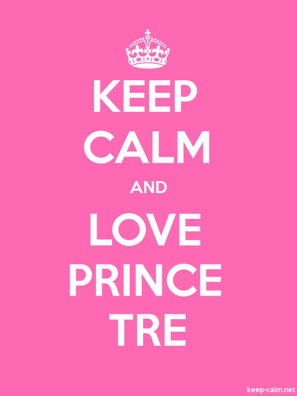 KEEP CALM AND LOVE PRINCE TRE - white/pink - Default (600x800)