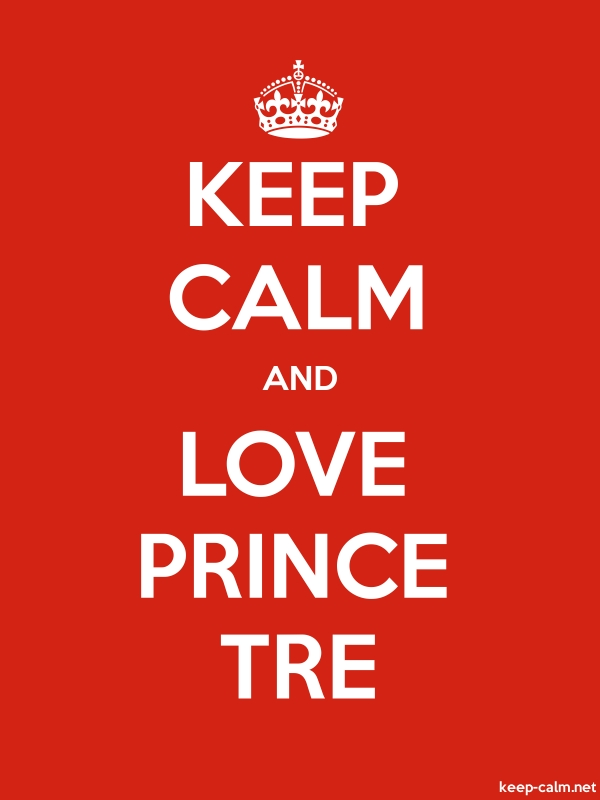 KEEP CALM AND LOVE PRINCE TRE - white/red - Default (600x800)
