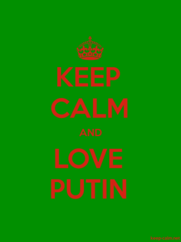 KEEP CALM AND LOVE PUTIN - red/green - Default (600x800)
