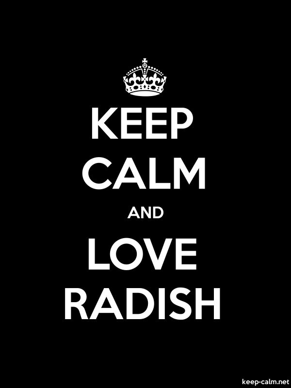 KEEP CALM AND LOVE RADISH - white/black - Default (600x800)