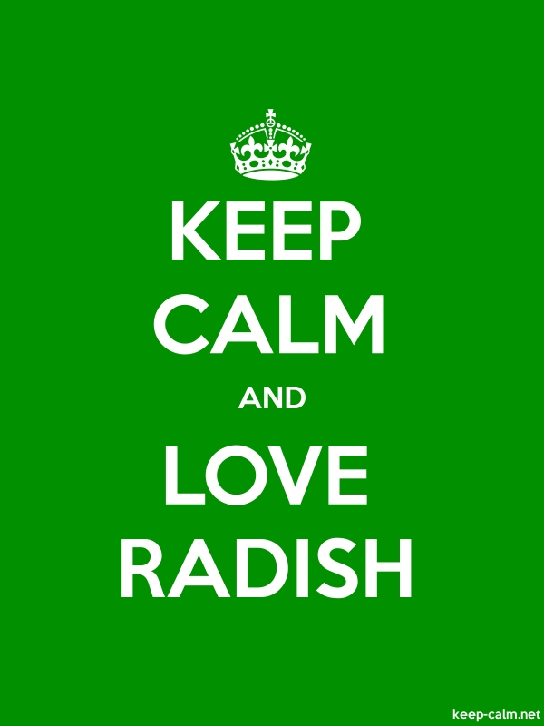 KEEP CALM AND LOVE RADISH - white/green - Default (600x800)