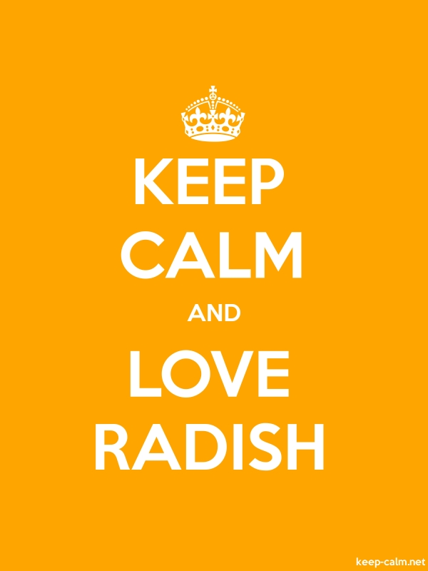 KEEP CALM AND LOVE RADISH - white/orange - Default (600x800)