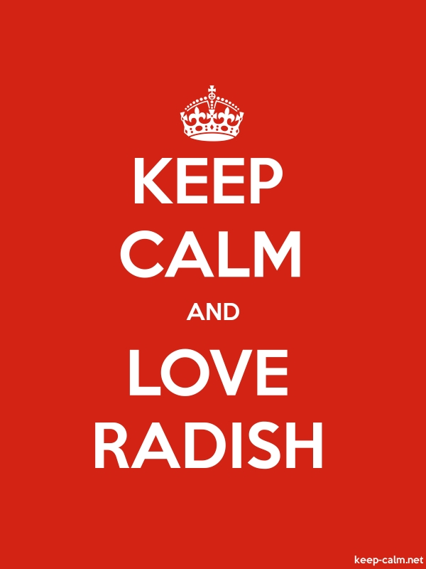 KEEP CALM AND LOVE RADISH - white/red - Default (600x800)