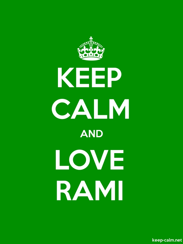 KEEP CALM AND LOVE RAMI - white/green - Default (600x800)