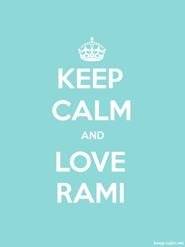 KEEP CALM AND LOVE RAMI - white/lightblue - Default (600x800)