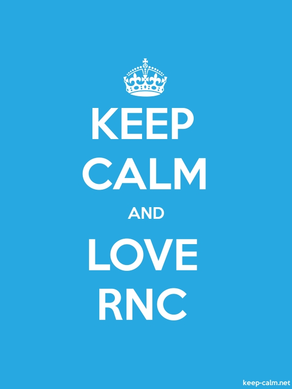 KEEP CALM AND LOVE RNC - white/blue - Default (600x800)
