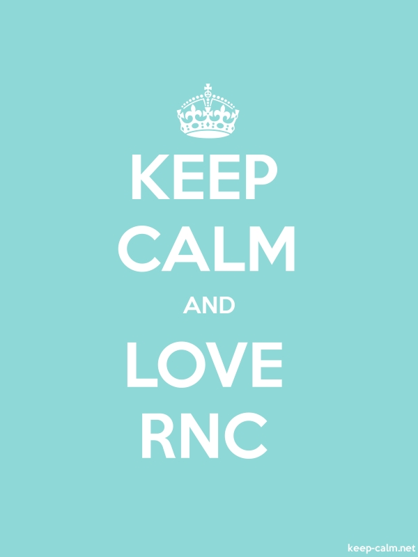 KEEP CALM AND LOVE RNC - white/lightblue - Default (600x800)