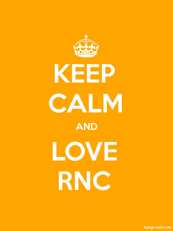 KEEP CALM AND LOVE RNC - white/orange - Default (600x800)