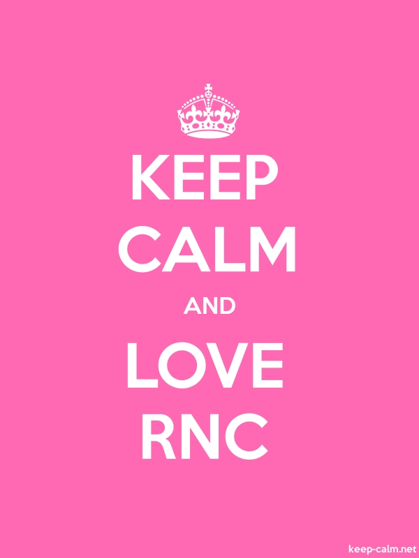 KEEP CALM AND LOVE RNC - white/pink - Default (600x800)