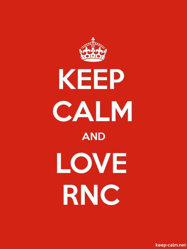 KEEP CALM AND LOVE RNC - white/red - Default (600x800)